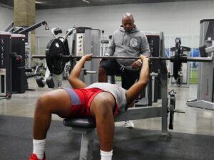 athletes exercising